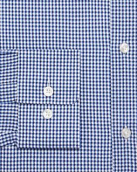 BOSS - Textured-Check Regular Fit Dress Shirt