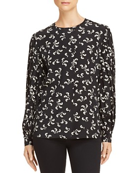 00a3587a9a Elizabeth and James - Celie Printed Silk Top ...