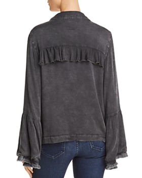 CHASER - Frayed Bell Sleeve Jacket