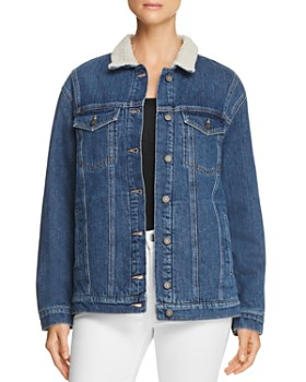 Mavi - Karla Sherpa-Trimmed Denim Jacket in Mid '90s