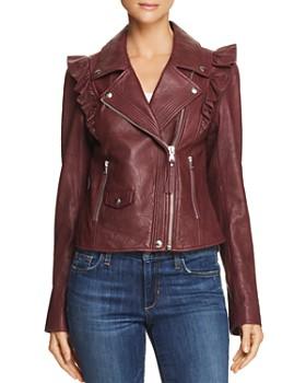 PAIGE - Annika Leather Moto Jacket