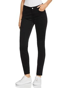 PAIGE - Hoxton Ultra Skinny Velvet Corduroy Jeans in Black Cord Velvet ... ab2c06b39