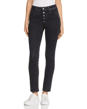 Hoxton Ankle Peg Skinny Jeans In City Noir