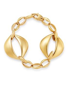 4e1d2648181 Bloomingdale s - Oval Interlock Bracelet in 14K Yellow Gold - 100%  Exclusive ...