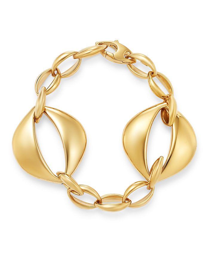 Bloomingdale's - Oval Interlock Bracelet in 14K Yellow Gold - 100% Exclusive