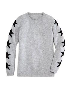 AQUA - Girls' Star-Print Cashmere Sweater, Big Kid - 100% Exclusive