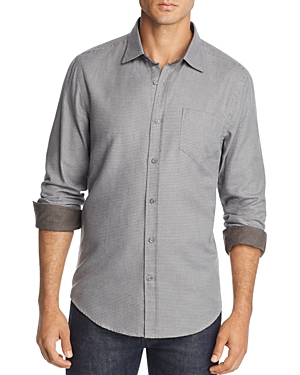 The Men's Store at Bloomingdale's Houndstooth-Print Regular Fit Flannel Shirt - 100% Exclusive