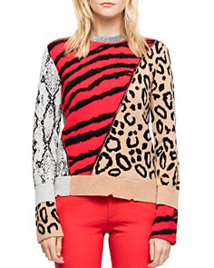 Zadig & Voltaire - Delly Animal-Print Sweater