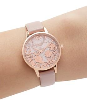 eaf5fd45923ce ... 30mm Olivia Burton - Quartz   Floral-Pattern Dial Watch