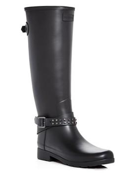 Hunter - Women's Refined Matte Biker Rain Boots