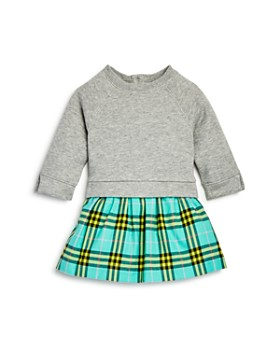 Burberry - Girls  Francine Check Skirt Sweatshirt Dress - Baby ... 6569f3ce63a