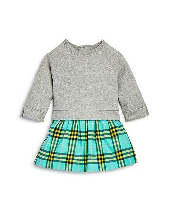 Burberry - Girls' Francine Check Skirt Sweatshirt Dress - Baby