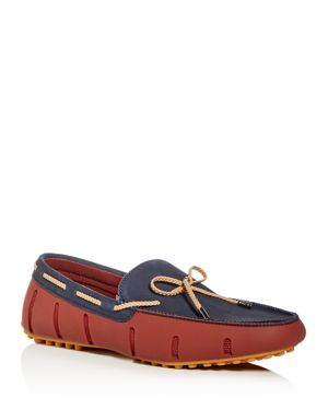 SWIMS MEN'S BRAIDED LACE NUBUCK LEATHER & RUBBER DRIVERS