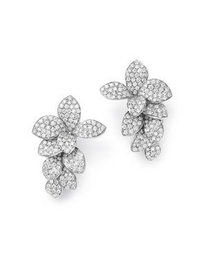 PASQUALE BRUNI 18K White Gold Stelle In Fiore Diamond Earrings