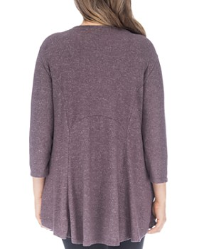 B Collection by Bobeau Curvy - Brushed High/Low Tunic Top