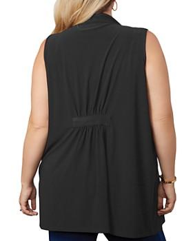 Belldini Plus - Draped Grommet Vest