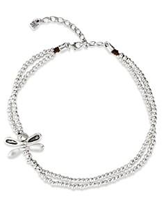 "Uno de 50 - Lil Double-Strand Dragon Fly Necklace, 15"""