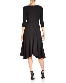HALSTON HERITAGE - Flounced A-line Midi Dress