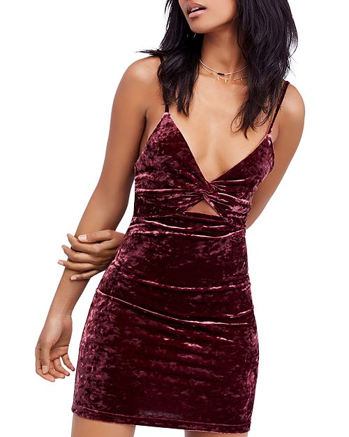 Free People - Come Together Velour Mini Dress