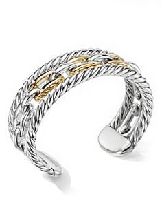 David Yurman - Wellesley Link Multi Stack Bracelet in Sterling Silver with 18K Yellow Gold
