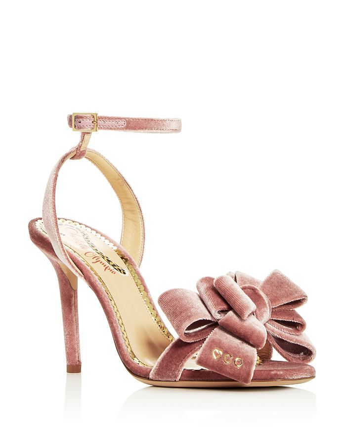 Charlotte Olympia - Women s Velvet Bow High-Heel Sandals