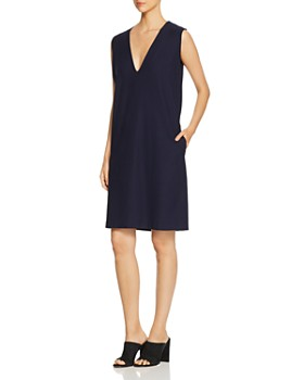 Eileen Fisher Petites - Sleeveless Deep V-Neck Dress