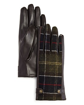 Barbour - Galloway Tartan Detail Gloves