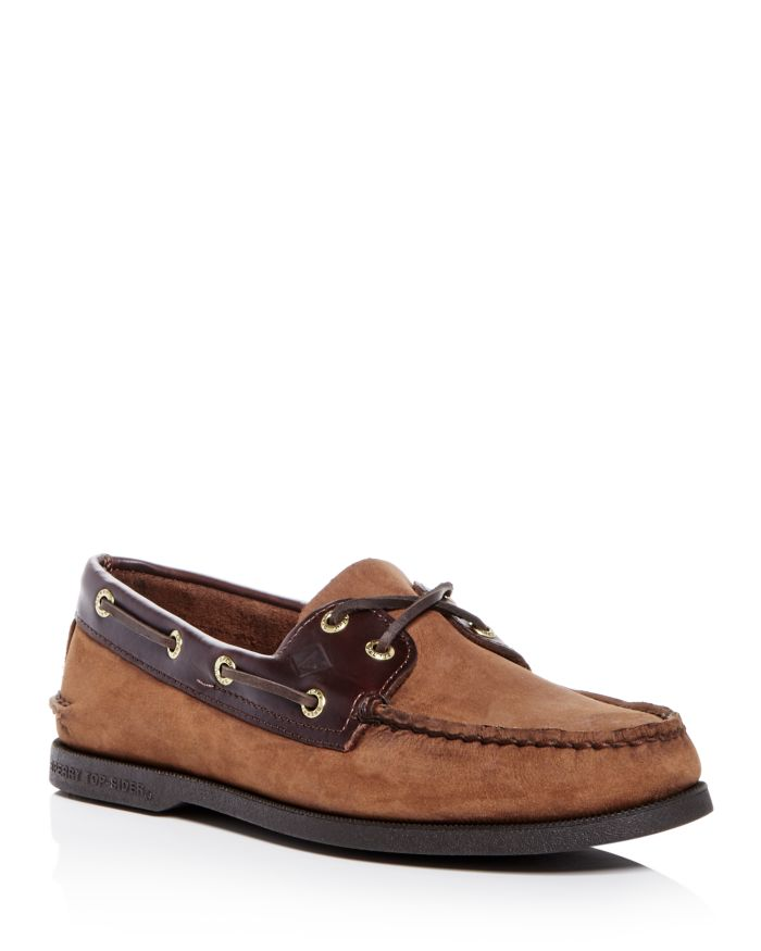 Sperry Men's Authentic Original Two Eye Nubuck Leather Boat Shoes     Bloomingdale's