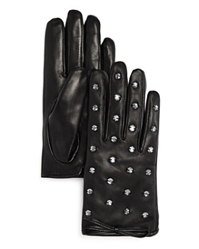 kate spade new york - Bedazzled Leather Gloves