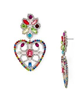 Dannijo - Camellias Multicolor Heart Drop Earrings