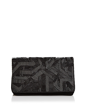 From St Xavier Blaze Medium Velvet Convertible Crossbody Clutch