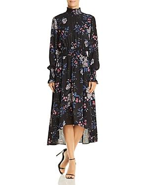 nanette Nanette Lepore Floral Smocked High/Low Dress