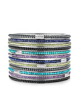 LAGOS - LAGOS Sterling Silver Caviar Icon Beaded Bangle Bracelet