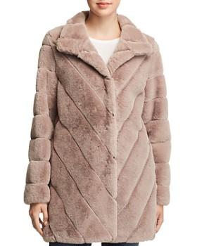 a5f8aab3752 Calvin Klein - Faux Fur Coat ...