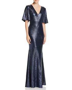 Rachel Zoe - Heather Sequined Metallic Gown