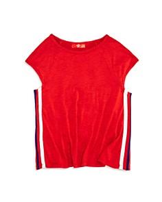 AQUA - Girls' Athletic-Stripe Tee, Big Kid - 100% Exclusive