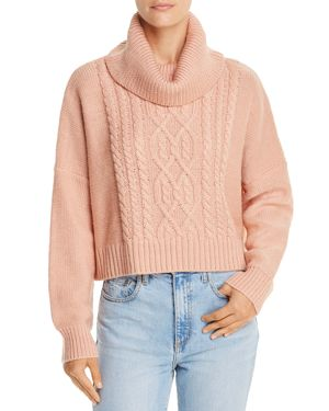 JACK BY BB DAKOTA Jack By Bb Dakota Say Anything Cropped Cable-Knit Sweater - 100% Exclusive in Dusty Rose