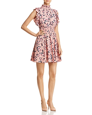 kate spade new york Prairie-Rose Sleeveless Ruffle-Trim Dress