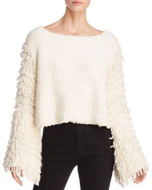 Alice McCall On Fire Fringe-Sleeve Sweater
