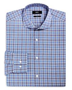 BOSS - Plaid Check Slim Fit Dress Shirt