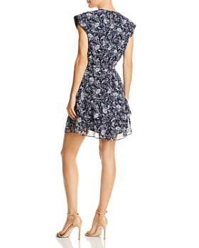 AQUA - Ruffled Floral Paisley Print Dress - 100% Exclusive