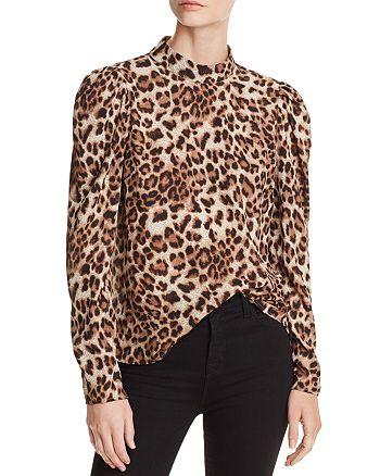 AQUA - Victorian Leopard Print Top - 100% Exclusive