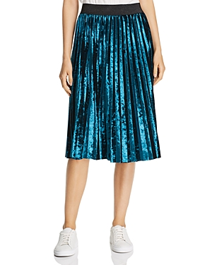 Mkt Studio Jacote Pleated Velvet Skirt