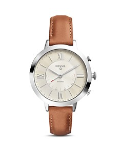 Fossil - Jacqueline Brown Leather Strap Hybrid Smartwatch, 36mm