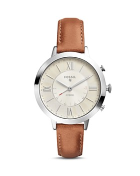 Fossil - Q Jacqueline Brown Leather Strap Hybrid Smartwatch, 36mm