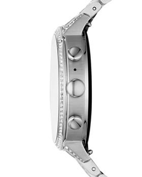 Fossil - Q Explorist HR Stainless Steel & Pavé Touchscreen Smartwatch, 40mm