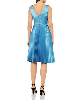 REISS - Alicia Pleated Satin Dress