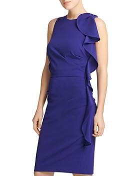 Donna Karan - Side Ruffle Sheath Dress