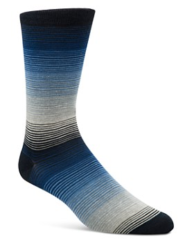Cole Haan - Gradient Fine Stripe Socks