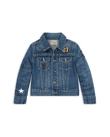 b35c1d57c04fa2 Ralph Lauren Girls  Polo Bear Patch Denim Jacket - Little Kid ...